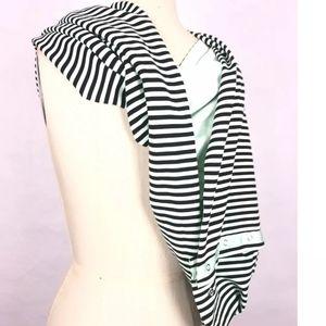 Black Striped Lululemon Scarf Cape Cardigan & More
